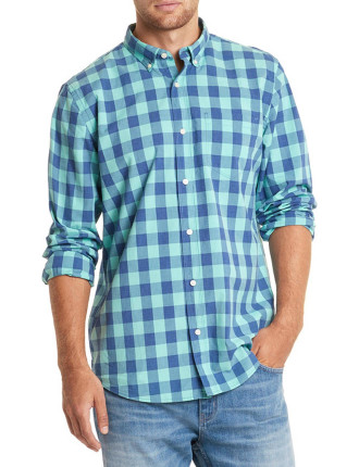Long Sleeve Regular Plaid Shirt