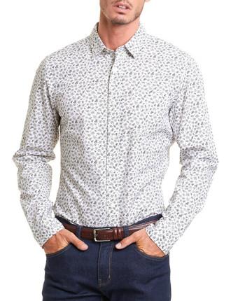 Long Sleeve Regular Print Floral Shirt