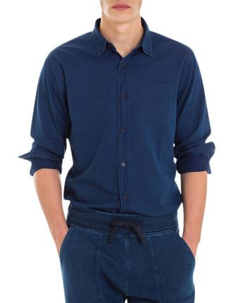 Indigo Herringbone Shirt