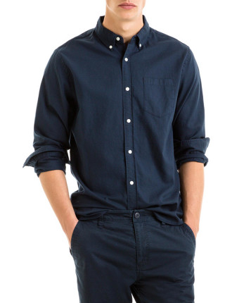 Slub Oxford Shirt
