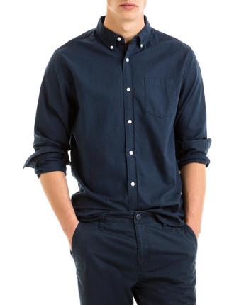 Long Sleeve Slub Oxford Shirt