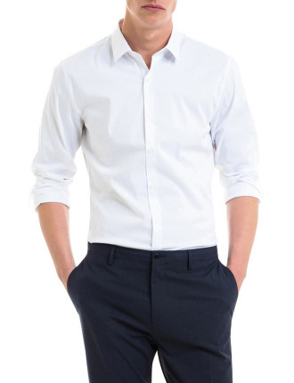 Slim Stretch Poplin Shirt
