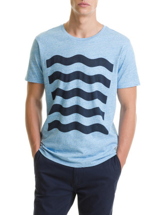 Short Sleeve Waves Graphic T-Shirt
