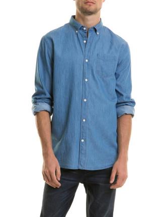 Longsleeved Chambray Shirt