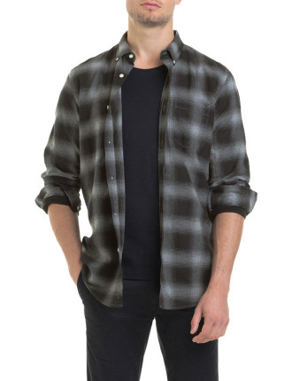 Long Sleeve Ombre Check Shirt