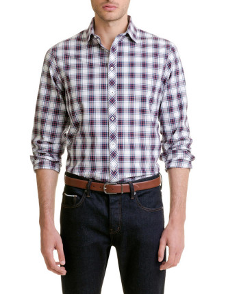 Long Sleve Window Plaid Shirt