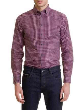 Long Sleeve Slim Check Shirt