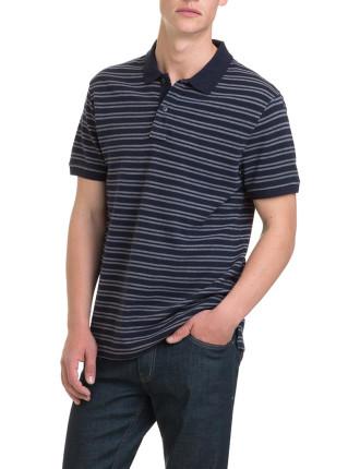 Simple Stripe Polo