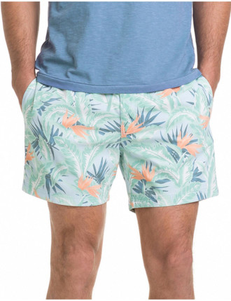 Faded Tropical Swim Short