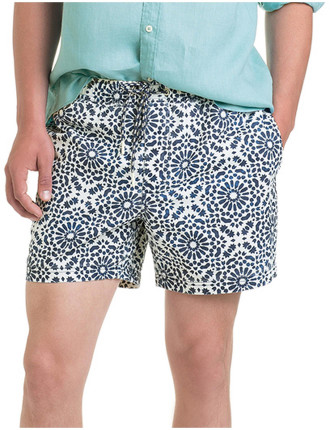 Tile Print Swim Short