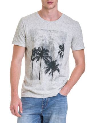 Short Sleeve Palm Tree Graphic T-Shirt