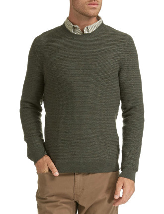 LUCAS TEXTURED CREW NECK