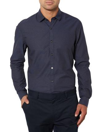 Mini Dot Jacquard Shirt