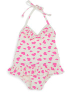 Heart Print One Piece $23.97