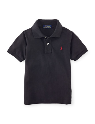 Solid Basic Mesh Polo (8-14 Years)