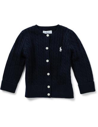 Cable-Knit Cotton Cardigan (12-24 Months)