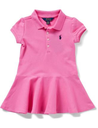 Short-Sleeve Polo Dress (2-7 Years)