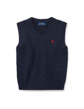 Cable-Knit Cotton Sweater Vest(2-7 Years)