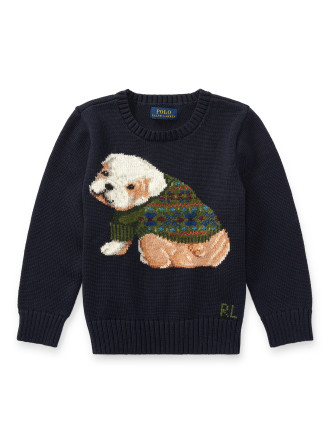 Dog Cotton-Blend Sweater(2-7 Years)