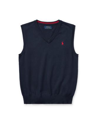 Cotton V-Neck Sweater Vest(S-XL)