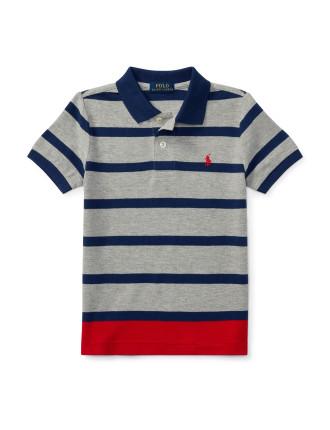 Striped Cotton Mesh Polo Shirt(2-7 Years)