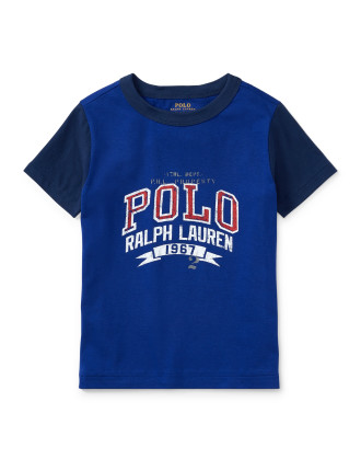 Cotton Jersey Ringer Tee(2-7 Years)