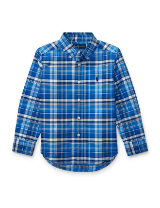 Checked Cotton Oxford Shirt(2-7 Years)