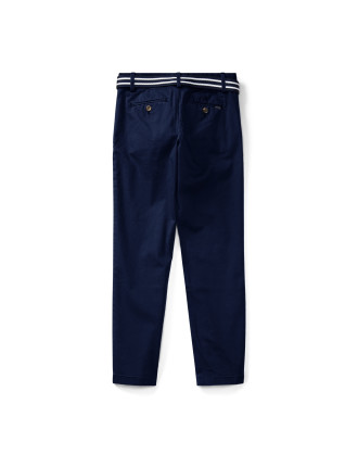 Belted Stretch Cotton Chino(8-14 years)
