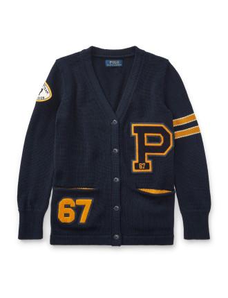P-Patch Cotton Cardigan(S-XL)