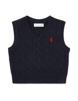 Cable-Knit Cotton Vest(6-24 months)