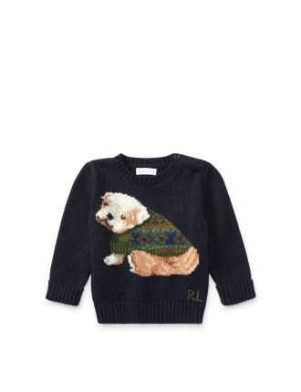 Dog Cotton-Blend Sweater(6-24 months)