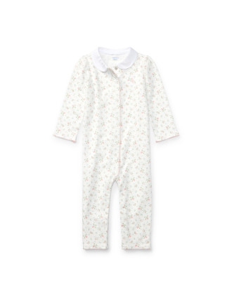 Floral Cotton Coverall(3-12 months)