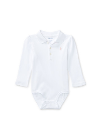 Interlock Polo Bodysuit(3-12 months)
