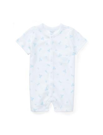 Bear-Print Cotton Shortall(3-12 months)