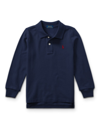 Cotton Mesh Long-Sleeve Polo(2-7 Years)