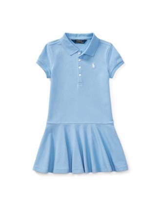 Mesh Short-Sleeve Polo Dress(S-XL)