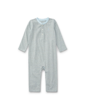 Striped Cotton Jersey Coverall(3-12 months)