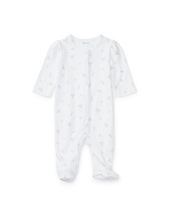 Footed Cotton Coverall(0-9 months)