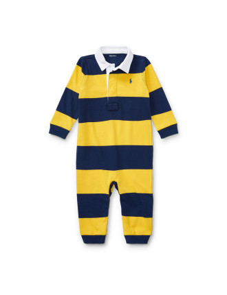 Striped Cotton Rugby Coverall(3-12 months)