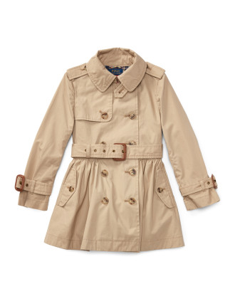 Cotton Swing Trench Coat(2-7 Years)