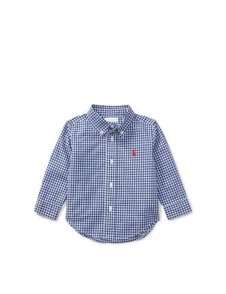Gingham Cotton Poplin Shirt(S-XL)