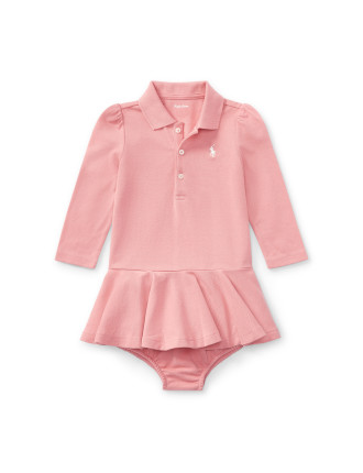 Cotton Polo Dress & Bloomer(6-24 months)