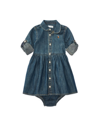Cotton Denim Shirtdress(6-24 months)