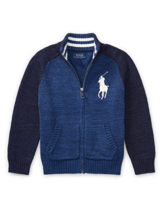 Cotton Full-Zip Sweater(2-7 years)