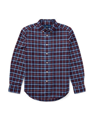Plaid Cotton Oxford Shirt(S-XL)