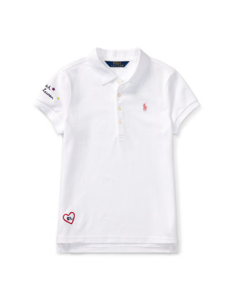 Embroidered Cotton Pique Polo(S-XL)