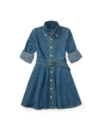 Cotton Denim Shirtdress(2-7 years)