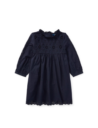 Eyelet Cotton Dress(2-7 years)