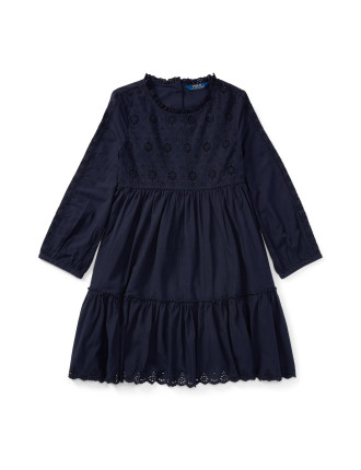 Eyelet Cotton Dress(8-14 years)