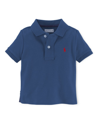 Solid Basic Mesh Polo (0-24 Months)
